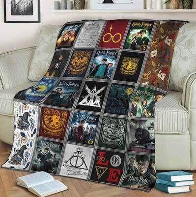 Harry Potter Blanket, Gift For Fan, Special Gift, Gift For Kid, Anniversary Gift