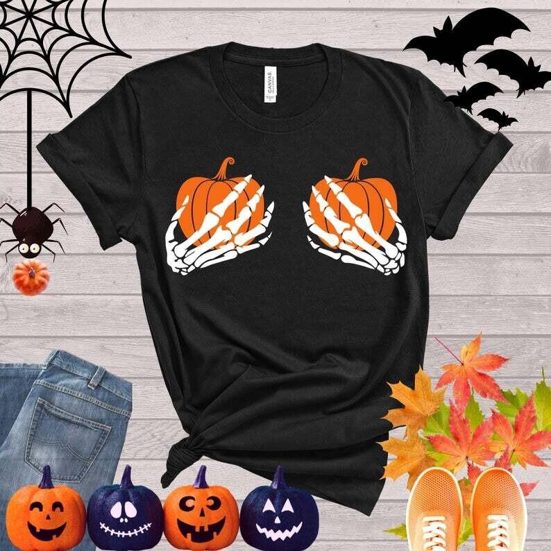 Skeleton Hands Shirt, Funny Halloween Shirt, Happy Halloween Shirt, Halloween Party, Trick or Treat Shirt
