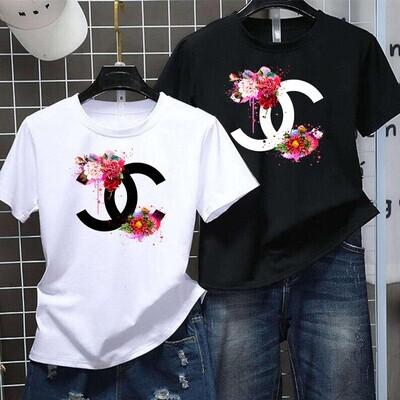 CN Flower Fashion Logo GC Shirt, GC T-shirt, GC Logo, GC Fashion shirt, Fashion shirt,GC Design shirt, Flower Fashion GC vintage shirt Unisex T-Shirt Hoodie Sweatshirt Sweater for Ladies Women Men