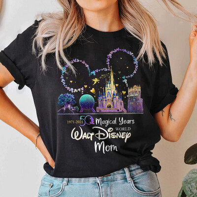 Mickey Ears Disney World 50th Anniversary Trending Unisex Tank Top Sweatshirt Hoodie Long Sleeve T Shirt