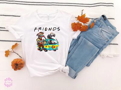 Horror Friends Halloween Shirt,Halloween Horror Shirt,Horror Squad Shirt,Horror Halloween Fan shirt, Halloween Movie Lovers Gift Trending Unisex Tank Top Sweatshirt Hoodie Long Sleeve T Shirt