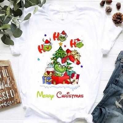 Ho Ho Ho Christmas, Grinch Lover Shirt, Merry Christmas Shirt, Grinch Shirt, Disney Family Shirt, Funny Grinch Shirt
