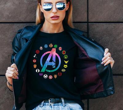 Avengers T-Shirt, Marvel Avengers Logo, Avengers Logo Shirt, Superhero Shirt, Marvel Tee, Captain America Tee, Hulk, Spiderman, Iron man Trending Unisex Tank Top Sweatshirt Hoodie Long Sleeve T Shirt