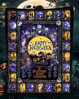 Personalized Skeleton Blanket: Til Death Do Us Part Woven Throw, Spooky Skull Decor, Wedding or Anniversary Present, Halloween Gift Quilt Blanket