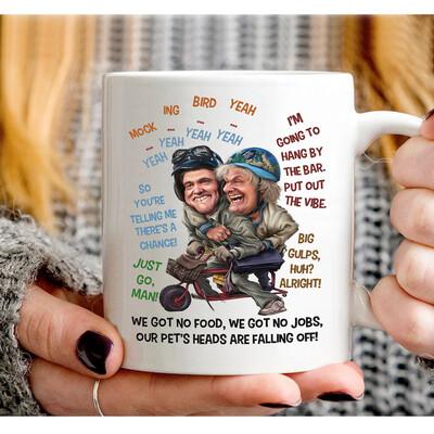 Dumb So You're Telling Me There's A Chance The Vibe Dumber Mug, Dumb and Dumber quote mug Funny gift Lloyd Jim Carrey White Mug 11Oz,15Oz  Jolly Family Gift