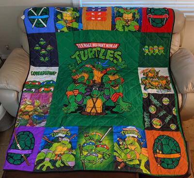 Teen Mutant Ninja Turtle Blanket, TMNT Blanket, Out of the Shadows, Ninja Blanket, Turtle Lover Blanket ,Cartoons Lover Blanket,Gift For Fan  Jolly Family Gift