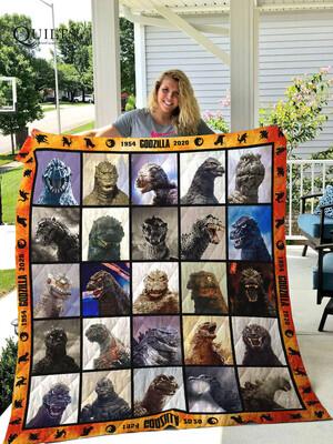 Godzilla 1954 2020 Blanket, Kaijus Godzilla Art Blanket, King Of The Monsters Blanket, Monster Blanket, Movie Lover Blanket, Blanket gift Jolly Family Gift