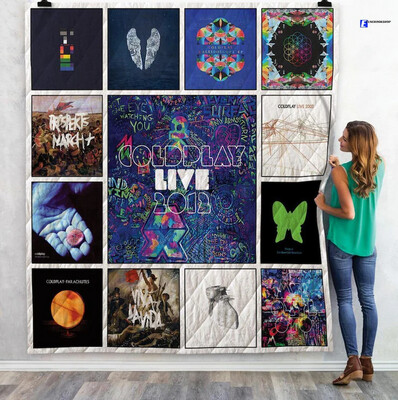 Coldplay Rock Band Ver3 Albums Poster Cover Music Singer Quilt Blanket Bedding Family Gift For Him Father's Day Jolly Family Gift