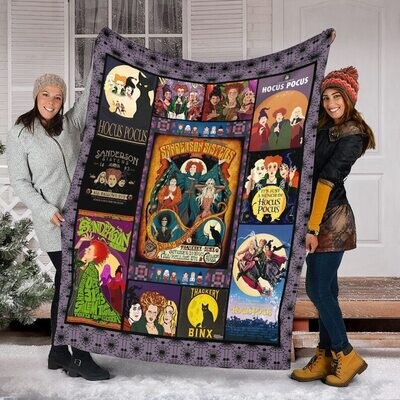 Hocus Pocus Halloween Witch Movie V 6 Quilt Blanket Sofa Bedding Family Birthday Gift Idea For Fans Him Her Jolly Family Gift