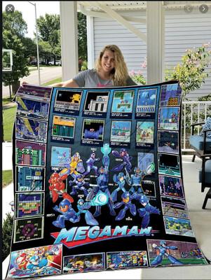 Mega-man Rockman Ninten-do Game Blanket, Proto Man Blanket, Elec Man Blanket, Zero Megaman X Blanket, Movie Lover Blanket, Blanket gift Jolly Family Gift