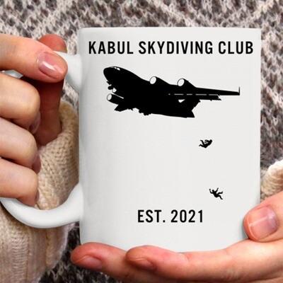 The Kabul Skydiving Club Kabul Afghanistan EST 2021 Mug Funny Gifts,Tea Cup,White Mug 11 Oz,15 Oz Jolly Family Gift