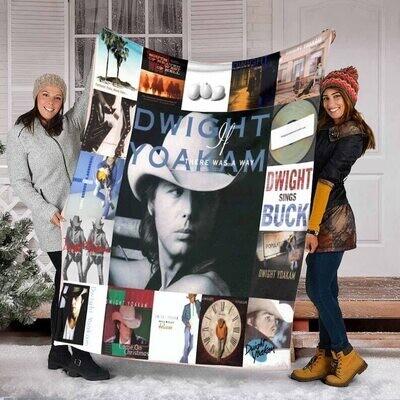 Dwight Yoakam For Fans Ver17 Quilt Blanket Fleece Blanket,Mink Blanket,Sherpa Blanket,Birthday,Christmas Gift,Family Blanket,Outdoor Blanket Jolly Family Gift