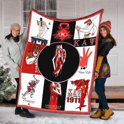 Kappa Alpha Psi Fleece Blanket,Mink Blanket, Sherpa Blanket,Birthday,Christmas Gift,Family Blanket,Outdoor Blanket Jolly Family Gift