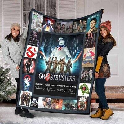Ghostbusters For Fans Quilt Blanket Fleece Blanket,Mink Blanket,Sherpa Blanket,Birthday,Christmas Gift,Family Blanket,Outdoor Blanket Jolly Family Gift