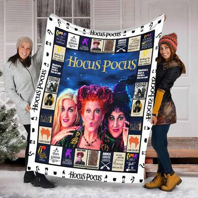 Hocus Pocus Ver2 Quilt Blanket , Blanket for Girl , Blanket for Boy ,Birthday Gift,Christmas Gift,Halloween Gift  Jolly Family Gift