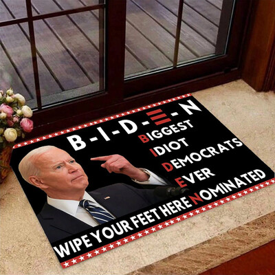 Funny Biden Wipe Your Feet Here Doormat, For Fans President Trump, Gifts for Home, Doormat House Warming Gift