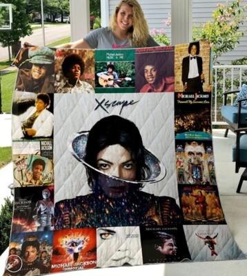 Michael Jackson Albums Cover 15 Celebrity Blanket,Michael jackson Blanket, Gift For Anniversary,King Of Pop Blanket,Music Lover Blanket Jolly Family Gift