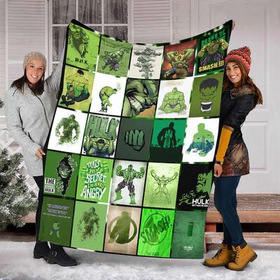 Hulk Quilt Blanket , Blanket for Girl, Blanket for Wife,Birthday Gift,Christmas Gift,Halloween Gift Jolly Family Gift