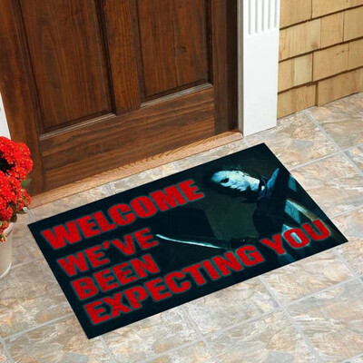 Michael Is Expecting You Doormat, Gifts for Home, Gifts For Halloween, Horror Movie Fans Doormat House Warming Gift