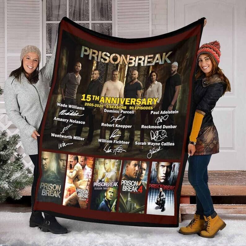 Prison Break Fleece Blanket,Mink blanket, Sherpa Blanket, Gift For Birthday, Special Blanket, Anniversary Gift Jolly Family Gift