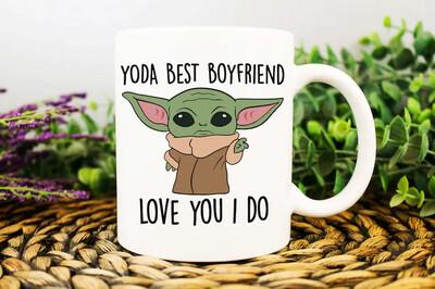 Boyfriend Birthday Gift, Gift from Girlfriend, Anniversary Present, Yoda Best Boyfriend Mug, Best Boyfriend Ever, Funny Anniversary Gift Mug 11oz 15oz Jolly Family Gift