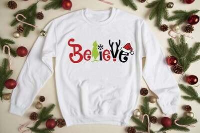 The Grinch My Day Believe Swearshirt Hoodie Funny Grinch Shirt Christmas Grinch My Day Shirt Merry Christmas Shirt Trending Hoodies Sweatshirt Long Sleeve V Neck Tank Top Tee  Shirt