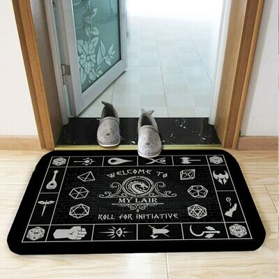 Gaming House Doormat, Game Welcome to Roll for Initiative Doormat, Board Gamer Gift, DND Gift, Geek Gift, Funny Doormat, Housewarming Gift, Doormat House Warming Gift