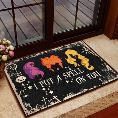 I Put A Spell On You Doormat, Hocus Pocus Doormat, Halloween Design Rug, Happy Gift, Funny Doormat, Housewarming Gift, Doormat House Warming Gift