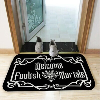 Haunted Mansion Welcome Foolish Mortals Doormat,The Haunted Mansion Fans Doormat,Welcome Doormat,Personalized , Horror Lover Gift, Hallowee Funny Doormat, Housewarming Gift, Doormat House Warming Gift