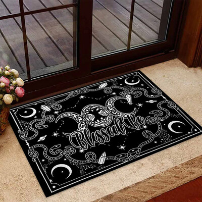 Witches Blessed Be Polyester Door Mat, Witches Mat,Happy Halloween Day,Halloween Rug, Welcome Doormat, Gift Mat, Halloween Rug , New Home Gift, Housewarming Gift, Doormat House Warming Gift
