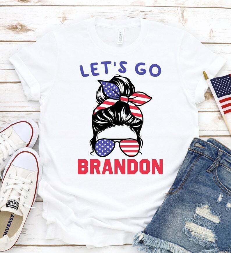 Let's Go Brandon Shirt, lets go brandon t-shirt, Funny Joe Biden Shirt, Conservative Anti Liberal, Republican Shirt, Anti Biden Trending Hoodie Sweatshirt Sweater for Ladies Women Men