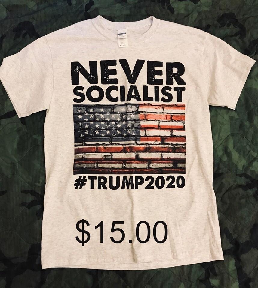 T-Shirt - White - NEVER SOCIALIST