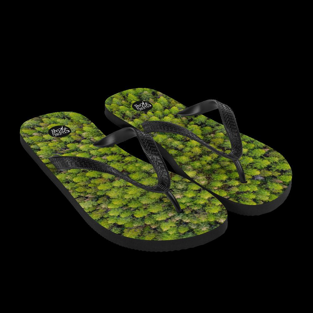 Pinpoint Forest Flip-Flops
