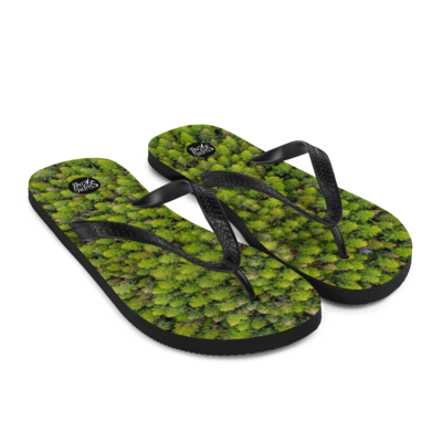 Pinpoint Forest Flip-Flops