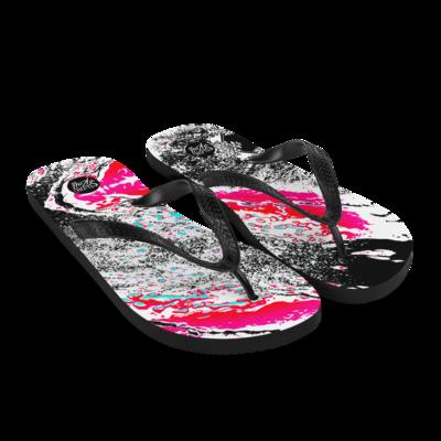Neon River Flip-Flops