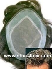MGM-NI Extended French lace front hair replacement system  Available in 3 sizes