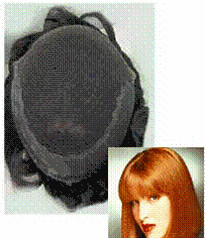 "Ladies ION 6 L000   NI Micro-Mesh Front Hair system for the top of the head Length 12"" Size: 8x10"""