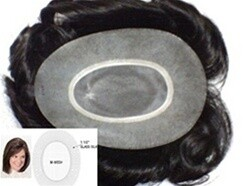 Ladies TURQUOISE HV hair replacement system For the top of the head, SIZE: 5