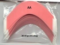 Walker Red liner Tape Contour - AA - 36 strips in a bag