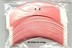 Walker Red liner Tape Contour -CC- 36 strips in a bag