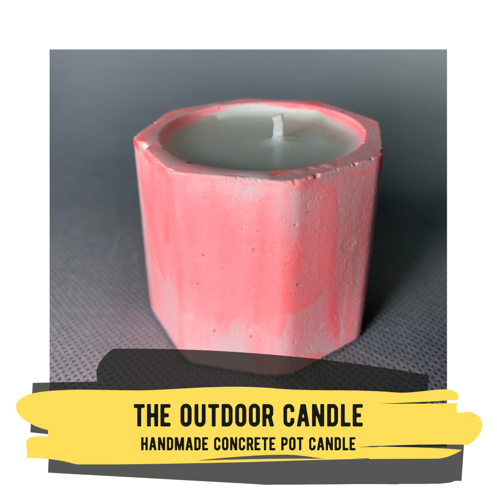Designed for the Outdoors - Concrete Pot Candle