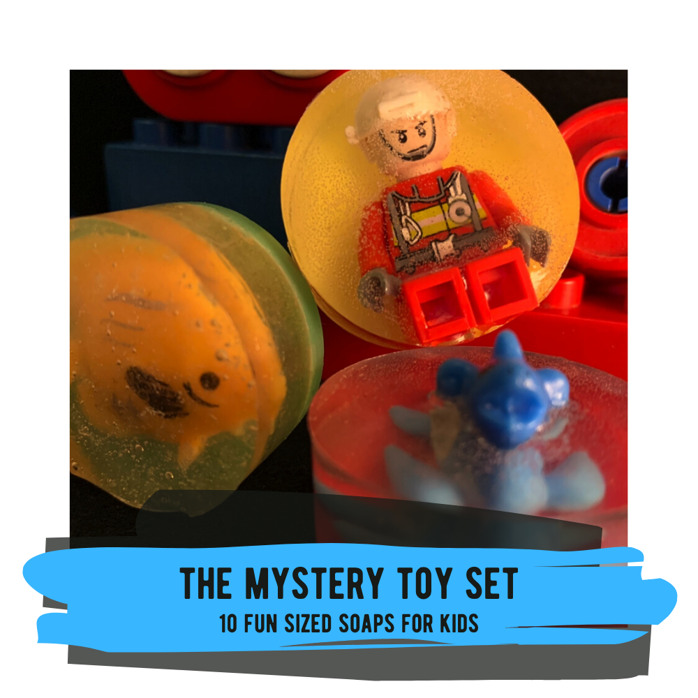 The Mystery Toy Set - 10 Fun Sized Soaps for Kids