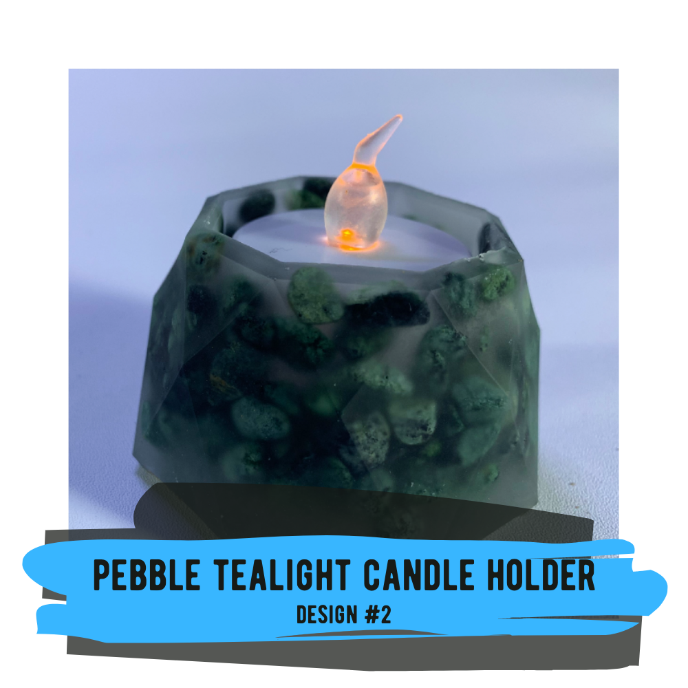 Pebble Tealight Candle Holder - Design #02