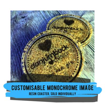 Customisable Monochrome Image Coaster, sold individually