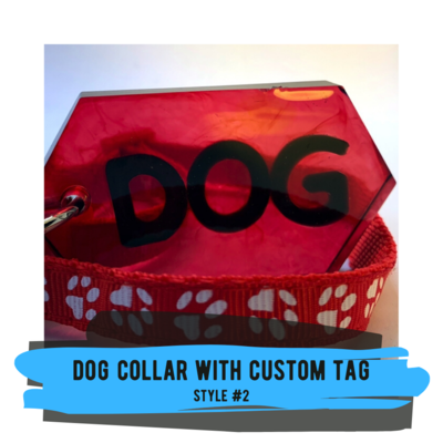 Dog Tag and Collar - Style #02