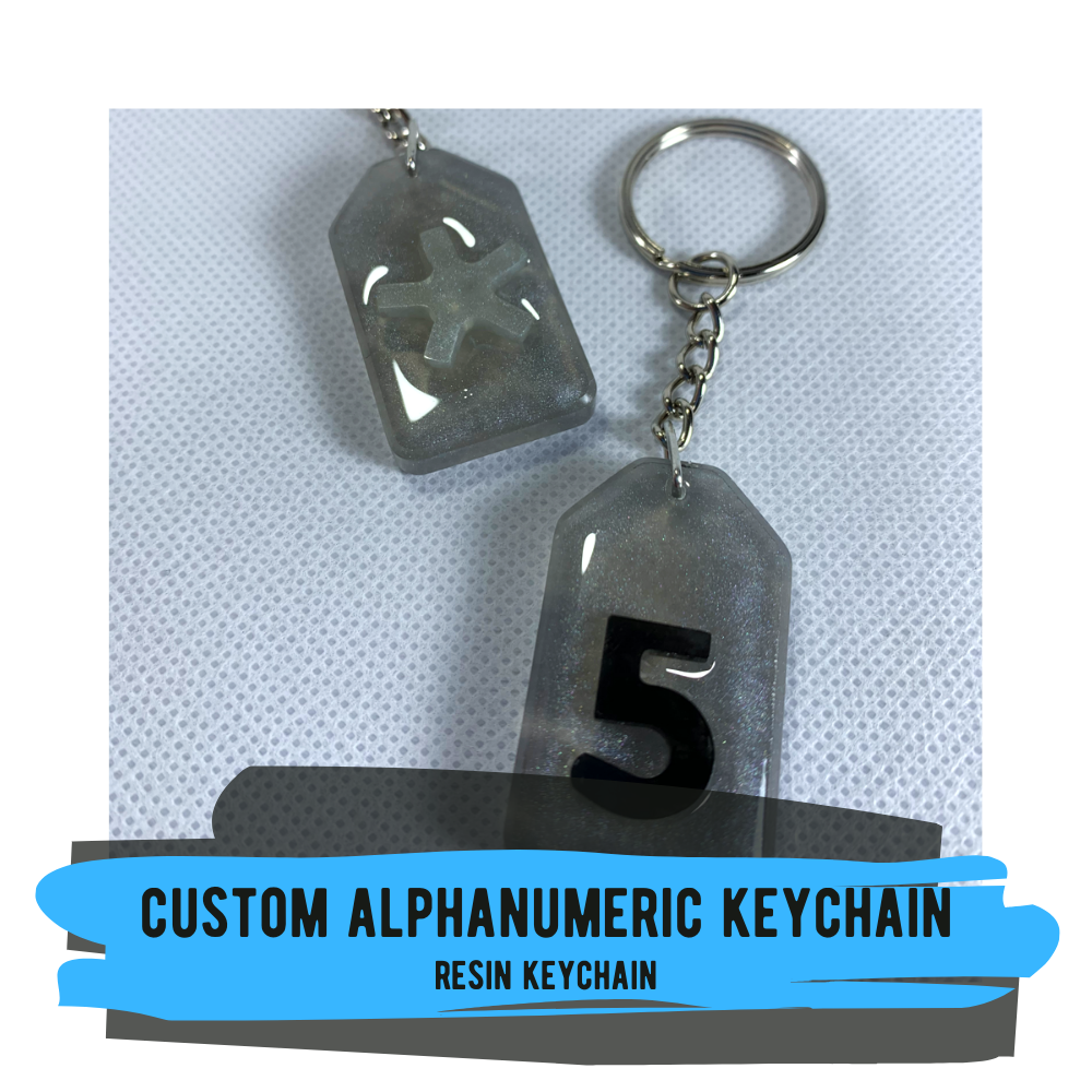 Custom Alphanumeric Keychain - 2 designs available