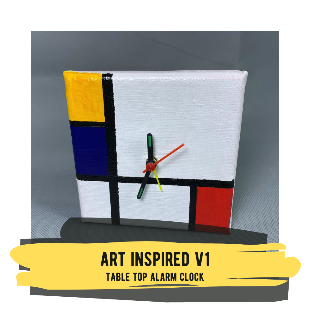 Art Inspired V1 - Table Top Alarm Clock