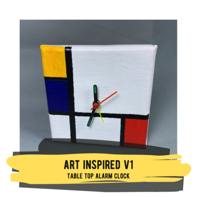 Art Inspired V1 - Table Top Alarm Clock