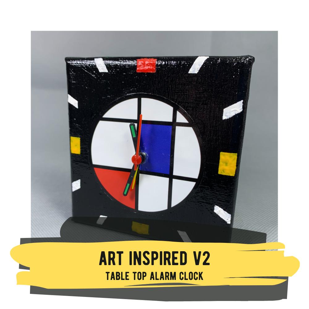 Art Inspired V2 - Table Top Alarm Clock