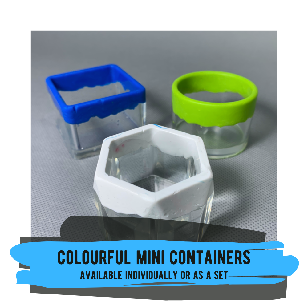Colourful Mini Containers - Available Individually or in a Set